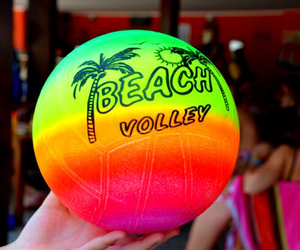 beach, volleyball, and summer image