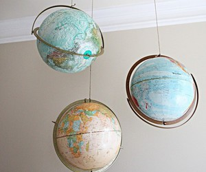 world, globe, and aesthetic image