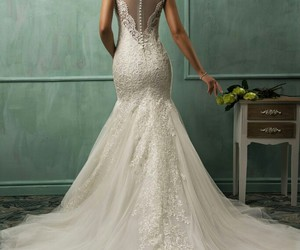 bride, wedding dress, and dress image