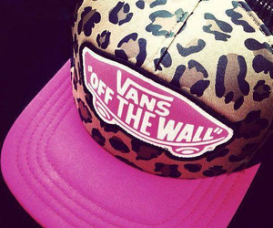 vans, pink, and cap image