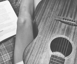 guitar, writing, and music image