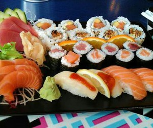 fish, japanese, and food image