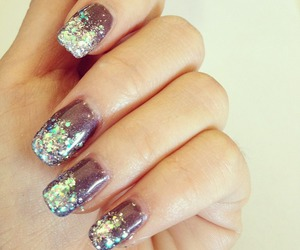 nails, fingers, and glitter image