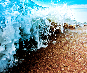 beach, waves, and sea image