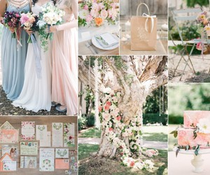 spring and wedding board image