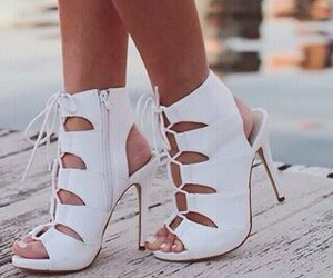 girl, white, and shoes image