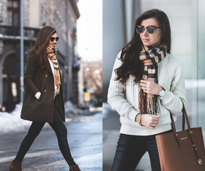 fashion blogger, larisa costea, and winter look image