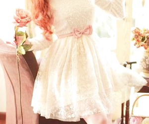 dress, kfashion, and lace image