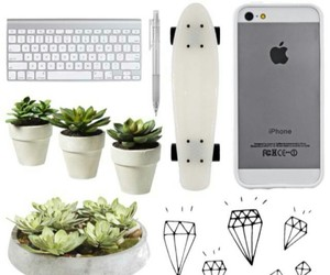 apple, iphone, and plants image