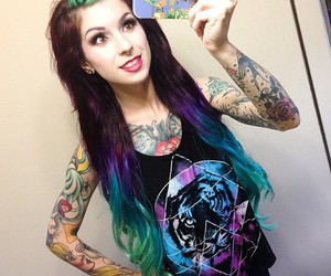 tattoo, alternative, and hair image