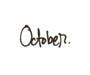 october, text, and © image