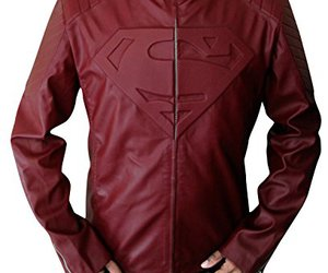 clothing, red, and smallville image