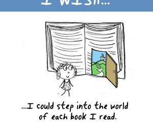 book, wish, and reading image