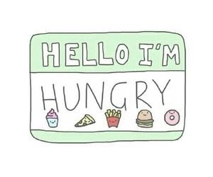 hungry, food, and hello image