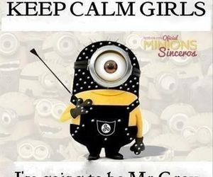minions, keep calm, and funny image