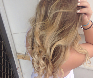 back, blonde, and brown image