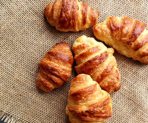 bread, croissant, and food image