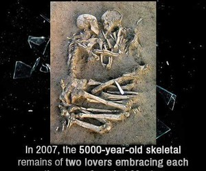 archaeology, embrace, and romance image