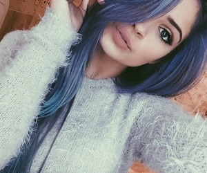 hair, blue, and eyes image