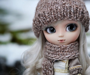 doll, toys, and winter image