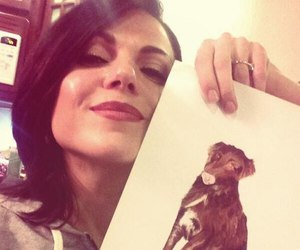 dog, once upon a time, and regina mills image