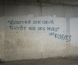 french, graffiti, and quotes image