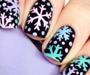nails, winter, and snow image
