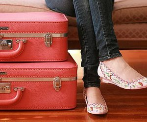 shoes, pink, and suitcase image