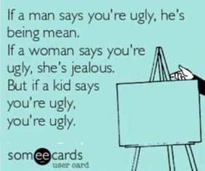 ugly, funny, and girl image