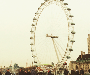 landscape, london, and london eye image