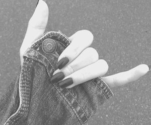 grunge, black, and nails image