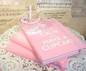 cupcake, pink, and keep calm image
