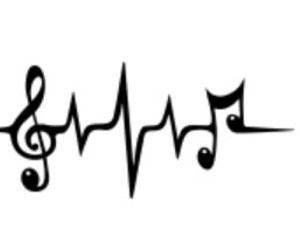 black&white and music image
