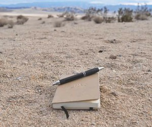 beautiful, diary, and sand image