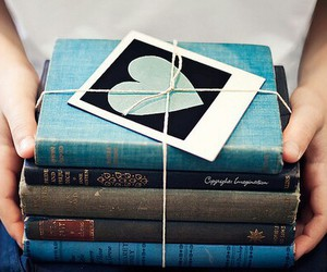 blue, books, and hands image