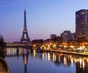 france, lights, and paris image