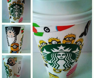 colors, cup, and drawing image