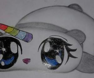 multicolor and panda image