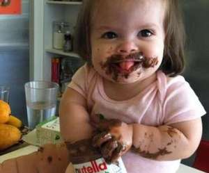 adorable, baby, and nutella image