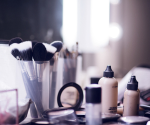 Brushes and makeup image