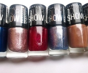 glitter, makeup, and Maybelline image