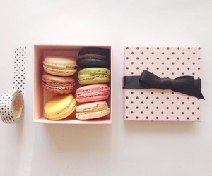 macaroons, bow, and box image