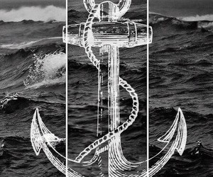 sea, anchor, and ocean image