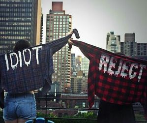 reject, idiot, and 5sos image