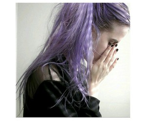 cool, hairstyle, and purple hair image