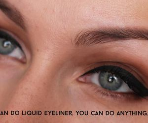 eyeliner, funny, and girl thing makeup image