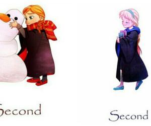 anna, hogwarts, and elsa image