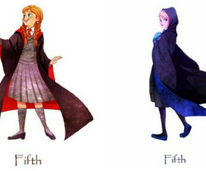 anna, frozen, and hogwarts image