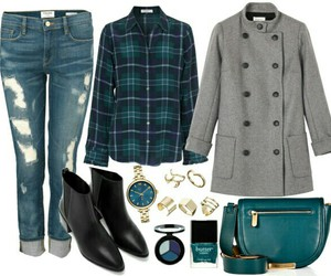 handbag, outfit, and teal image