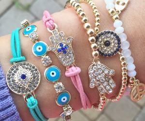 bracelets, eye, and gorgeous image